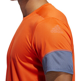 adidas 25/7 Rise Up N Run Camiseta Manga Corta Hombre, active orange